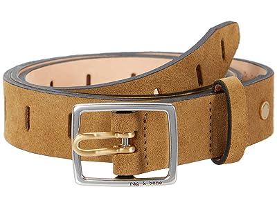 rag & bone Sidekick Belt (Golden Brown Suede) Women