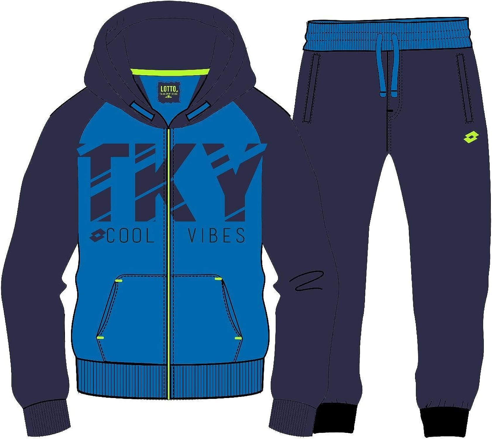 Lotto Trainingsanzug Marcus VI Suit Cuff ft b, Kind, blau (Blau SPT NVY)