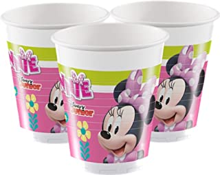 Girls Disney Pink Minnie Mouse Birthday Party Cups Celebration Tableware Decorations Accessories (Cups)