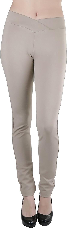 ToBeInStyle Women's Seagull Waist Skinny Ponte Leggings