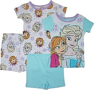 Frozen Girls' Four-Piece Pajama Short Set