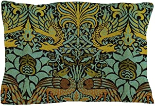 CafePress Peacock and Dragon William Morris Tapestry Design Standard Size Pillow Case, 20
