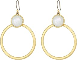 Lucky Brand - Set Stone Circle Earrings