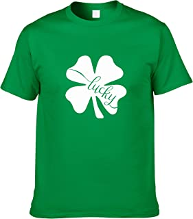 Debispax Four Leaf Clover Lucky T Shirt for Men St. Patrick's Day Irish Kelly Green Top Shirt