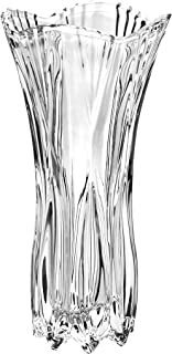 Slymeay Flower Vases Phoenix Tail Shape Thickened Crystal Glass for Home Decor, Wedding or Gift - 8