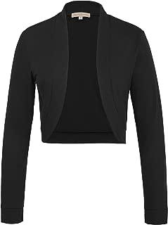 Women Vintage Open Front Long Sleeve Cropped Bolero Shrug Cardigan Cape S-XXL
