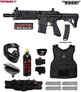 Tippmann TMC MAGFED Starter Protective CO2 Paintball Gun Package - Black/Black