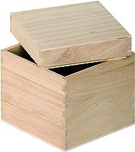 Artemio Scatola Porta fazzoletti con Fondo Legno 25 x 13 x 9 cm Beige