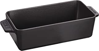 Staub 13102323 Cast Iron Loaf Pan, 12.75x5.25-inch, Matte Black