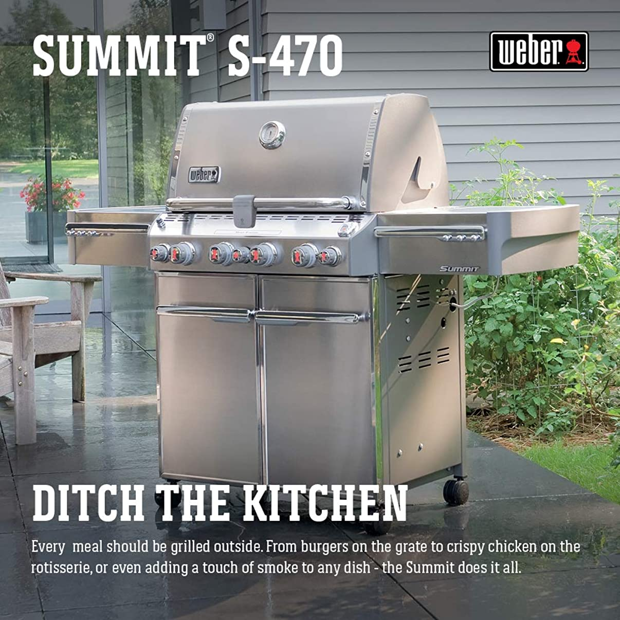Weber Summit S-470 LP Gas Grill, 7170001