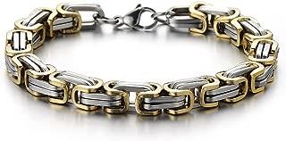 Best two tone mens bracelet Reviews