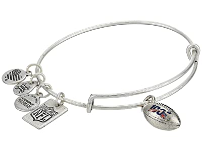 Alex and Ani NFL 100th Anniversary Charm Bangle (Shiny Silver) Bracelet