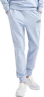 DeFacto Joggingbroek voor heren, slanke pasvorm, trainingspak met capuchon voor mannen.