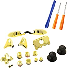SING F LTD Elite Full Replacement LB RB Bumpers Triggers Buttons with Tools For Xbox One Elite Controller, Chrome Gold