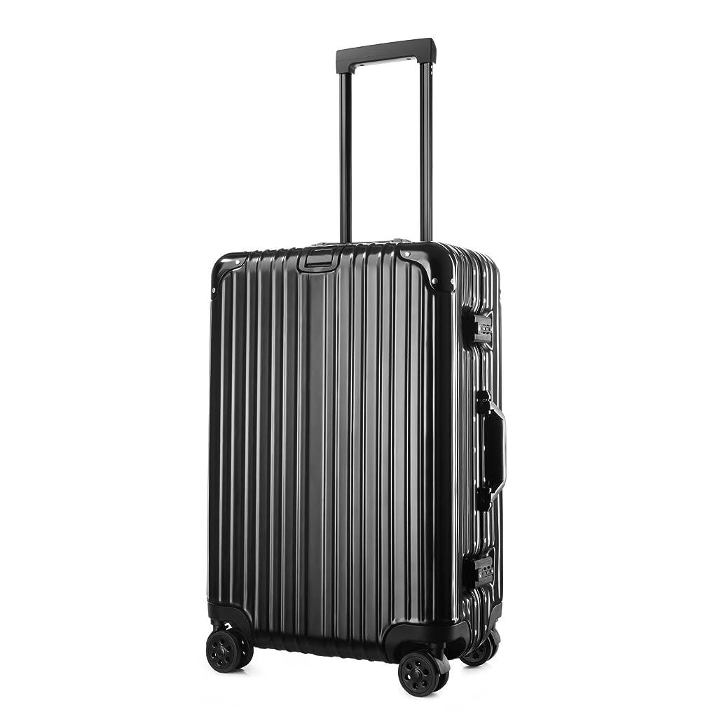 考えた首つなぐ(アスボーグ)ASVOGUE スーツケース キャリーケース TSAロック 鏡面仕上げ アルミフレーム 旅行 軽量 ファスナーレス