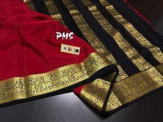 Fashion Vibes KSIC Quality Pure Mysore Crepe Silk Saree