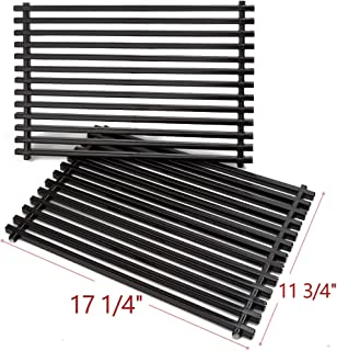 SHIENSTAR 7525 Porcelain Enameled Grill Grates for Weber Spirit 300 Series & Genesis Silver B Gas Grills, 17-1/4 Cooking Grids Replacement Parts, Set of 2