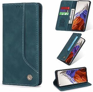 ESONG Hoesje voor Samsung Galaxy A12 5G,Flip Leer Hoes met Magnetisch Kaartsleuf Bracket,PU/TPU Wallet Protective Cover Ca...