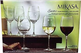 Mikasa ENCORE White Wine CRYSTAL STEMWARE - Set of 6 Glasses
