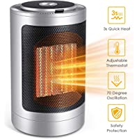 FFDDY 750W/1500W Indoor Ceramic Electric Heater