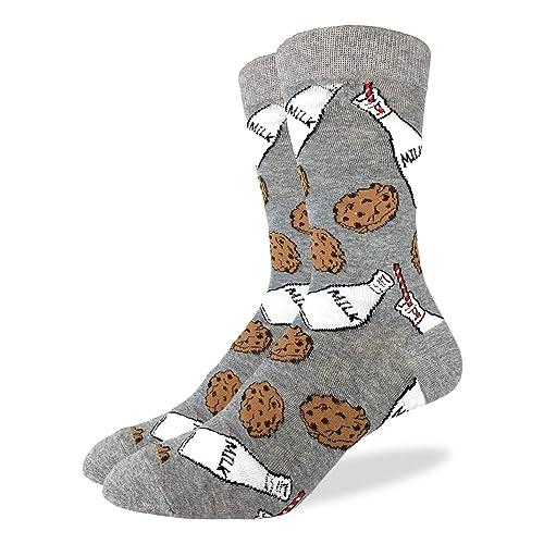 Good Luck Sock Mens Milk & Cookies Crew Socks - Grey, ...