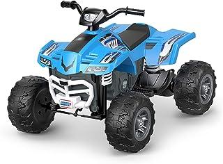 Ruedas eléctricas Fisher-Price Racing ATV, vehículo azul de paseo (FYX52)