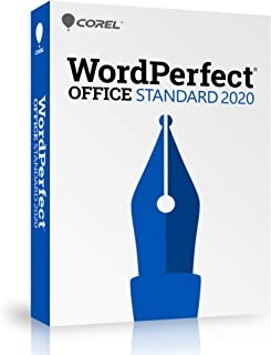 Corel WordPerfect Office 2020 Standard   Word Processor, Spreadsheets, Presentations   Newsletters, Labels, Envelopes, Reports, Fillable PDF Forms, eBooks [PC Disc]