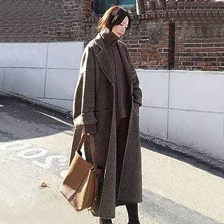ZKYOP Cappotti Cappotto Donna Semplice Maxi Cappotto Inverno