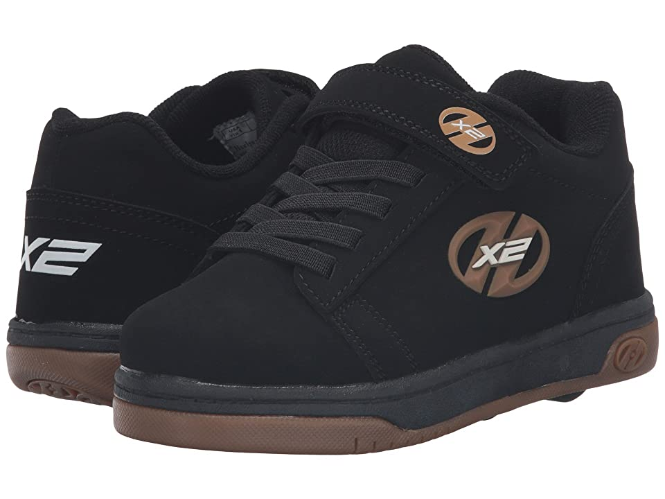 Heelys Dual Up X2 Solid (Little Kid/Big Kid) (Black/Gum) Boys Shoes