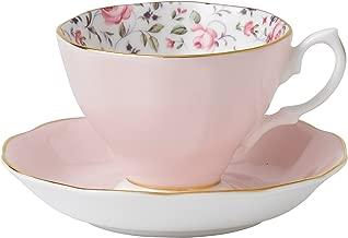 Royal Albert 8704026135 Rose Confetti Formal Vintage Boxed Teacup and Saucer Set