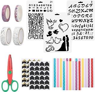 ChuJun 14 Accessoires scrapbooking Kit,Accessoires Album Photo Beaux d'angle d'album DIY Bricolage Scrapbooking Décoratifs...