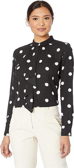 Polka Dot Georgette Shirt