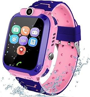 Reloj Inteligente para niños, LBS Rastreador Podómetro Impermeable cámara SOS Pantalla táctil HD Conversación Bidirecciona...