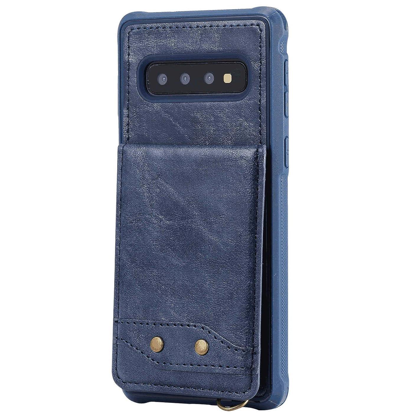低下指急降下Samsung Galaxy S10 PUレザー ケース, 手帳型 ケース 本革 高級 ビジネス 財布 スマホケース カバー収納 手帳型ケース Samsung Galaxy サムスン ギャラクシー S10 レザーケース