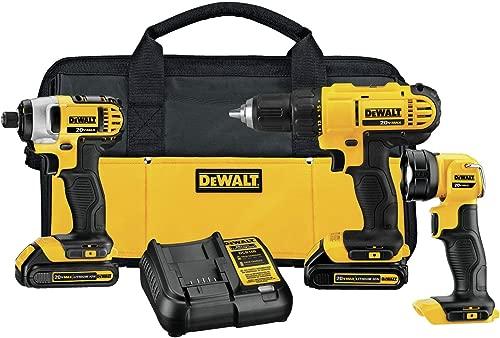DEWALT DCK340C2 20V Max 3-Tool Combo Kit