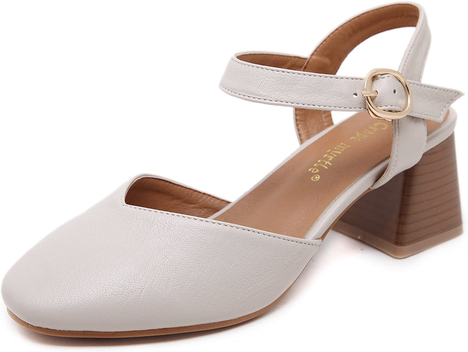 Women's Sandals, Retro Square Square Sandals, European and American Casual shoes, Heels and Heels.