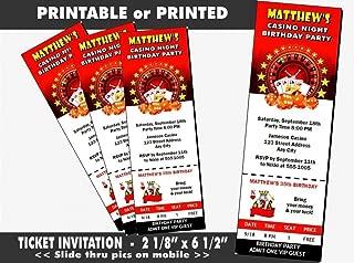 21st birthday ticket invitations