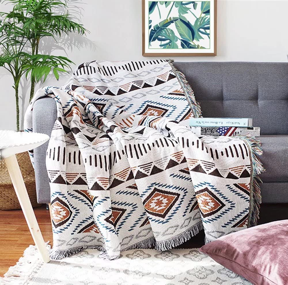 Homesy Southwest Throw Blankets Double Sided Aztec Southwest Throws 51