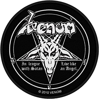 Venom In League With Satan Patch Black Metal Band Music Woven Sew On Applique