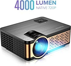 XIAOYA W5 Native 720P Mini Movie Projector with HiFi Speaker, 4000 Lumen Video Projector..
