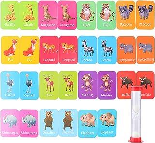 Tomaibaby Baby Training Match Kaarten Dierherkenning Kaarten Geheugen Matching Kaartspel Educatieve Woorden Leren Montesso...