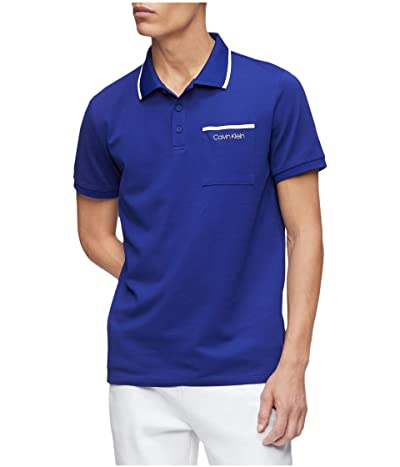 Calvin Klein Move 365 Short Sleeve Pocket Polo Quick Dry Moisture Wicking Features (Kinetic) Men