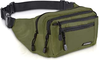 avec 6 Poches zipp/ées,Sac de Taille Grande capacit/é,Vert Outdoor Sport Waist Pack Fanny Pack BVDS Grande Sac Sacoche Banane