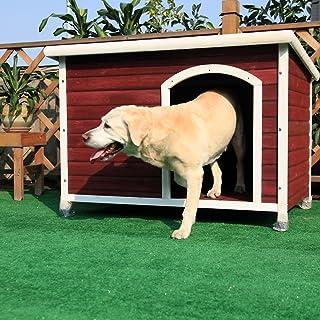 Petsfit Weatherproof Wooden Outdoor Dog/Pet/Cat Houses 115cm x 78cm x 81cm