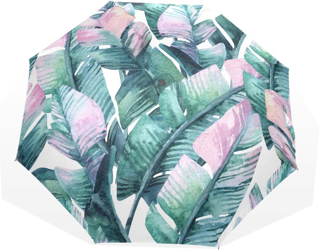 Girl Umbrellas Ranking TOP2 For Rain Green Summer Max 54% OFF Banana Tropical 3 Leaves Fo