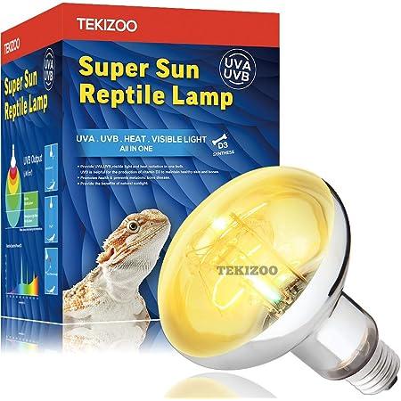 TEKIZOO UVA UVB Sun Lamp High Intensity Self-Ballasted Heat Basking Lamp/Light/Bulb for Reptile and Amphibian
