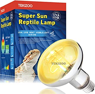 TEKIZOO UVA UVB Sun Lamp High Intensity Self-Ballasted Heat Basking Lamp/Light/Bulb for..