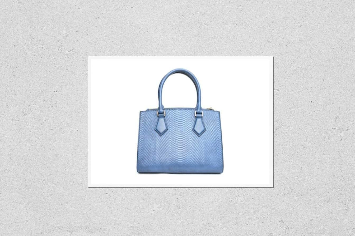 KwikMedia Limited Special Price Poster Reproduction of Blue W Handbag on Fashion Purse favorite