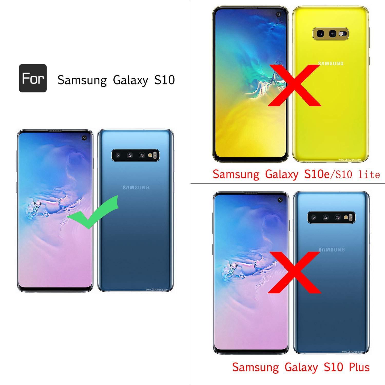 LeYi Funda Samsung Galaxy S10 Armor Carcasa con 360 Anillo iman ...