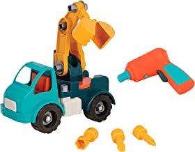 Battat - Take-Apart Crane – Take-Apart Toy Crane Truck with Toy Drill  Building Toys for Kids 3 years + (34-Pcs)